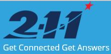211 logo Get connected get answers