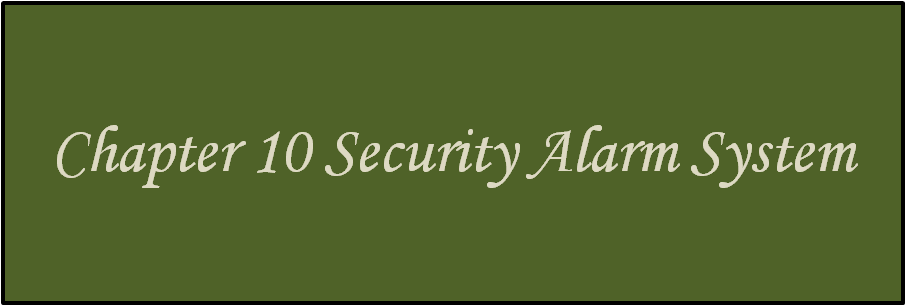 Learn about the Chapter 10 Security Alarm System.