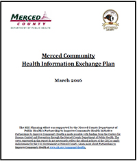 Merced Community Health Information Exchange Planning Report cover