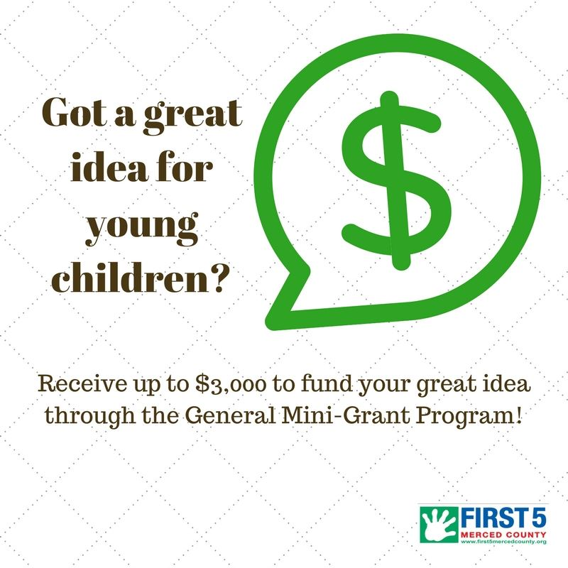 Image of a dollar sign in a comment bubble. Text says: Got a great idea for young children? Receive