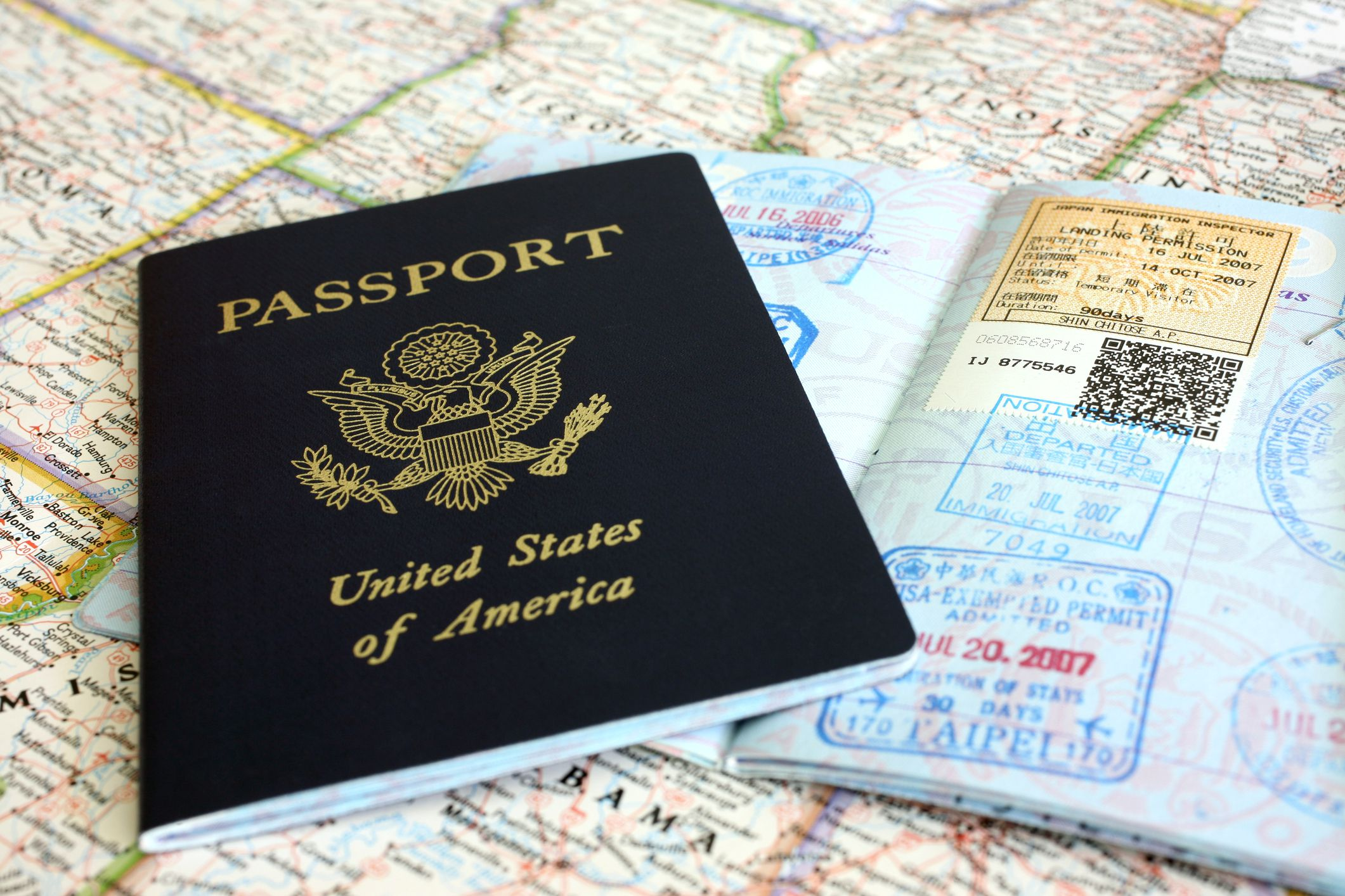 Photo of Passport on a Map