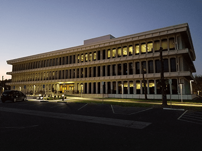 Photo of County Admin Building in Early Morning Light