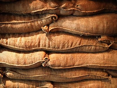 Photo of Stacked Sandbags