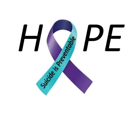 Suicide Prevention Hope Awareness Ribbon-Teal and Purple