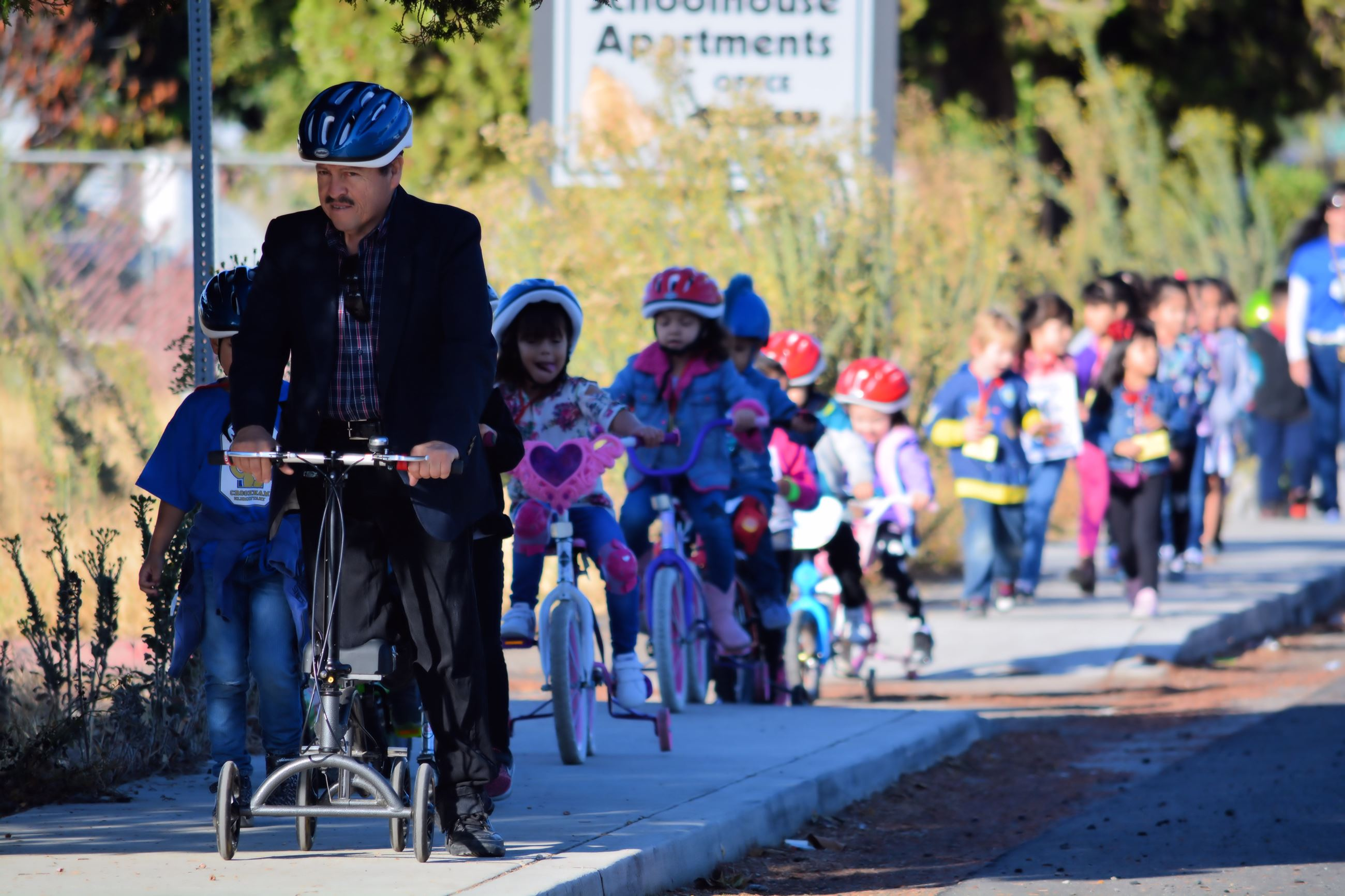 Crookham Elementary Teacher Leads the Way for Kids on Bikes