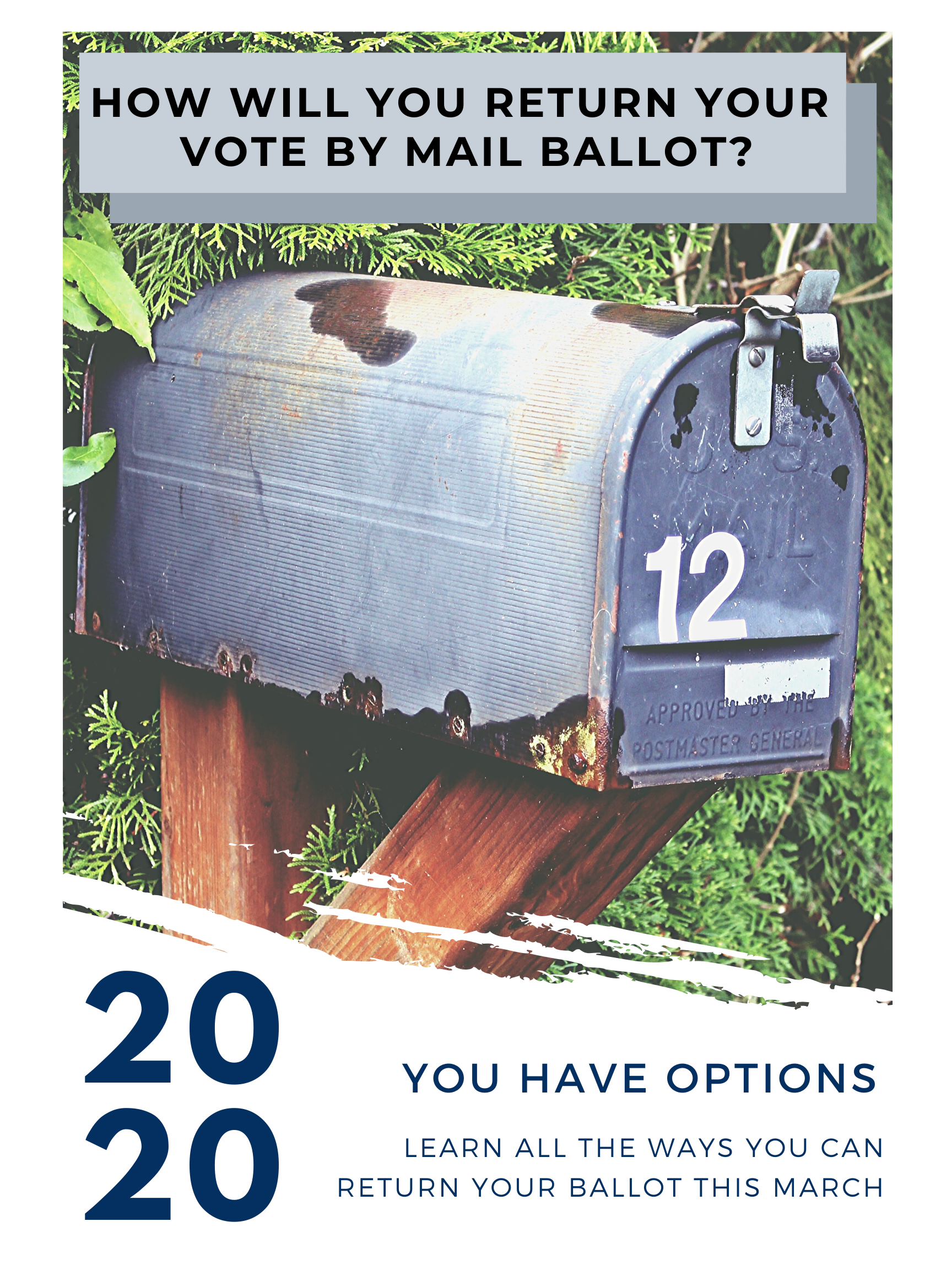 How will you retunr your vote by mail ballot in March? Learn about your options.