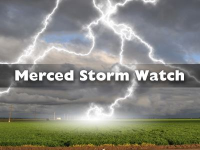 Merced Storm Watch - Lightning Storm Over Crop