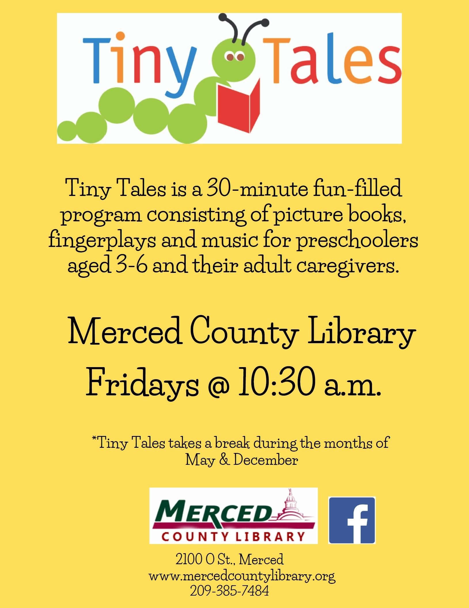 Merced Tiny Tales flyer