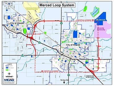 Map of Merced Loop System Opens in new window