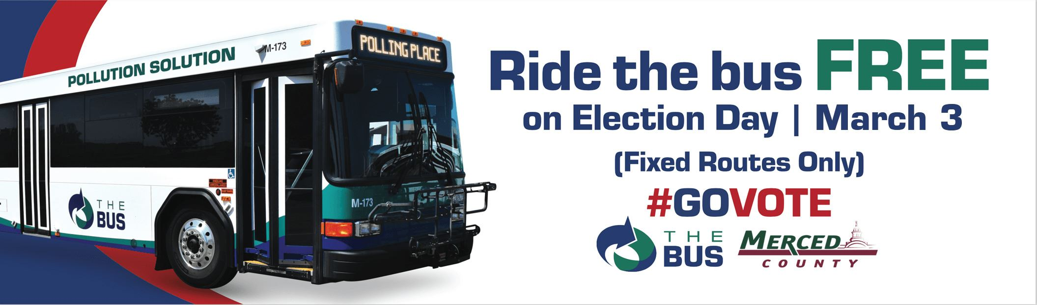 Ride the Bus Free On Election Day March 3rd Fixed Routes Only Opens in new window